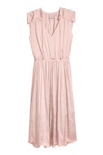 Crêpe satin dress - Powder pink - Ladies | H&M 2