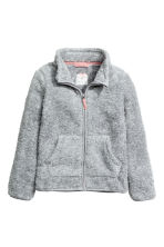 Pile jacket - Light grey marl -  | H&M 2