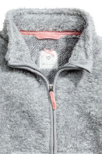 Pile jacket - Light grey marl - Kids | H&M 3