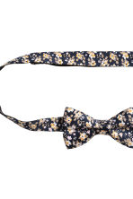 Bow tie and handkerchief - Dark blue/Floral - Men | H&M 3