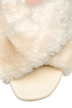 Faux fur mules - Natural white - Ladies | H&M CN 4