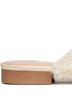Faux fur mules - Natural white - Ladies | H&M CN 5