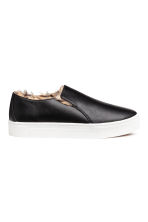 Warm-lined slip-on trainers - Black - Ladies | H&M 1