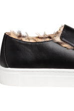 Warm-lined slip-on trainers - Black - Ladies | H&M 4