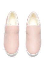 Warm-lined slip-on trainers - Light pink - Ladies | H&M GB 2