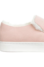 Warm-lined slip-on trainers - Light pink - Ladies | H&M 4