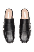 Leren slip-in loafers - Zwart - DAMES | H&M BE 3