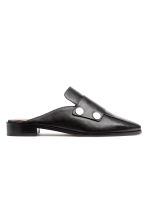 Leren slip-in loafers - Zwart - DAMES | H&M BE 2