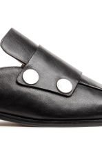 Leren slip-in loafers - Zwart - DAMES | H&M BE 5