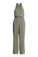 Sleeveless jumpsuit - Khaki green - Ladies | H&M GB 2
