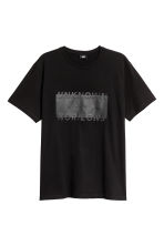 T-shirt with a motif - Black - Men | H&M 2