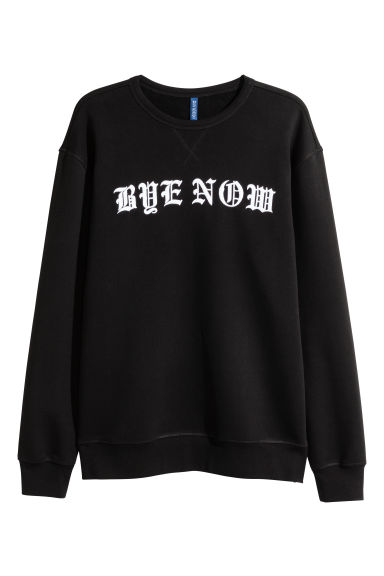 Sweatshirt with a print motif - Black - Men | H&M CN