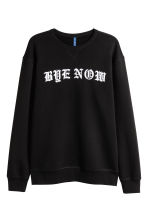 Sweatshirt with a print motif - Black - Men | H&M 2