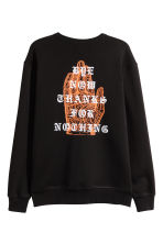Sweatshirt with a print motif - Black - Men | H&M 3