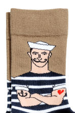 Jacquard-knit socks - Dark blue/Anchor - Men | H&M 2