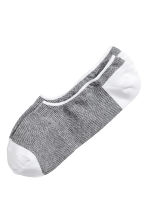 Shaftless socks - White/Black patterned - Men | H&M CN 1