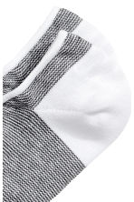 隱形襪 - White/Black patterned - Men | H&M 2