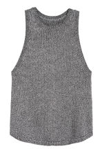 Glittery knitted top - Silver - Ladies | H&M CN 2