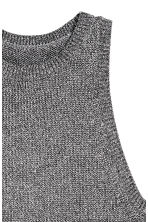 Glittery knitted top - Silver - Ladies | H&M CN 3