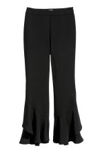 Flounced trousers - Black - Ladies | H&M 2