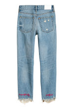 Loose fit Trashed Jeans - Light blue - Ladies | H&M 3
