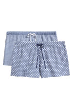2-pack pyjama shorts - Blue - Ladies | H&M CN 2