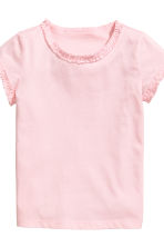 Set van 2 tricot T-shirts - Lichtroze -  | H&M BE 4