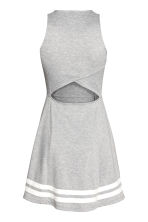 Sleeveless Jersey Dress - Grey marl/Text - Ladies | H&M CA 3