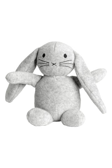 Velour soft toy - Light grey marl - Kids | H&M GB 1