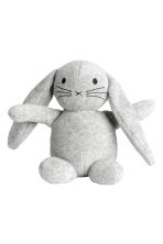 Velour soft toy - Light grey marl -  | H&M 1