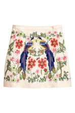 Embroidered skirt - Light pink -  | H&M 2