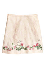 Embroidered skirt - Light pink -  | H&M 3
