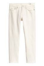 Cropped selvedge jeans - Blanco natural - HOMBRE | H&M ES 2