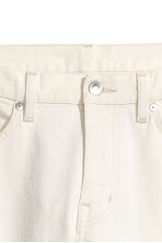 Cropped selvedge jeans - Blanco natural - HOMBRE | H&M ES 4
