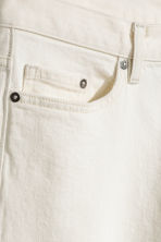 Cropped selvedge jeans - Blanco natural - HOMBRE | H&M ES 3