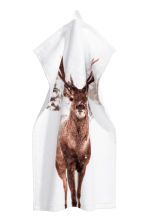2-pack guest towels - White/Deer -  | H&M IE 2