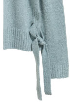 Knitted jumper with ties - Turquoise - Ladies | H&M CN 3