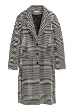 Wool-blend coat - Black and white - Ladies | H&M CN 2