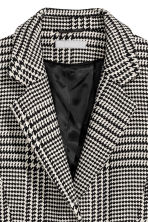 Wool-blend coat - Black and white - Ladies | H&M CN 3