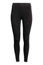 Bikerleggings i trikå - Svart - Ladies | H&M FI 2