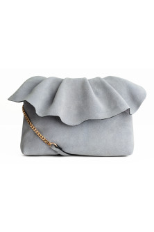 Suede shoulder bag