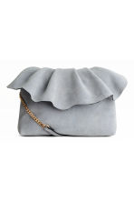 Suede shoulder bag - Light grey - Ladies | H&M 1