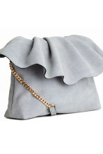 Suede shoulder bag - Light grey - Ladies | H&M 3