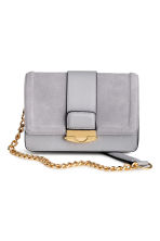 Bag with suede details - Light grey - Ladies | H&M 1