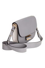 Small leather shoulder bag - Light grey -  | H&M CN 2
