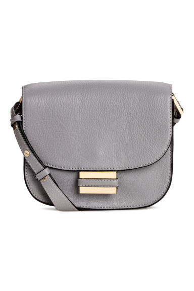 Small leather shoulder bag - Light grey -  | H&M IE