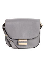 Small leather shoulder bag - Light grey -  | H&M CN 1