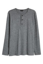 Henley top - Dark grey marl - Men | H&M CN 2