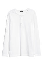 Henley top - White - Men | H&M 2