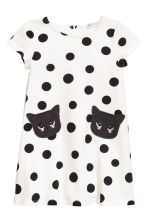 Patterned Dress - Natural white/dotted - Kids | H&M CA 2